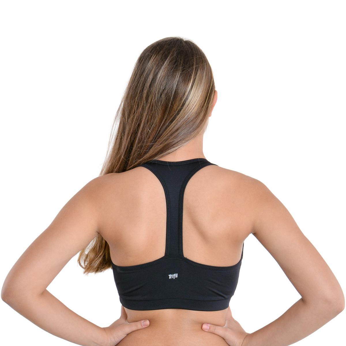 Top feminina fitness costas nadador com tira Trifil