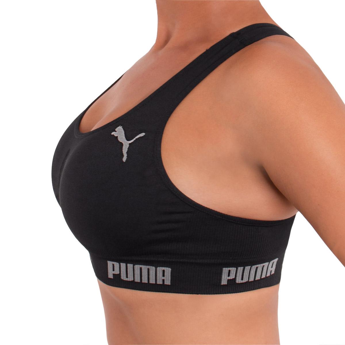 Top sem costura costa nadador Puma