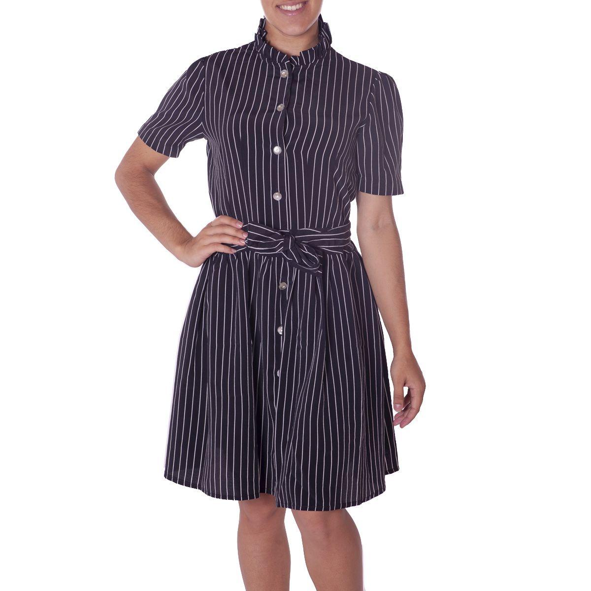Vestido Listrado Thais Gusmão -