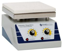 Agitador Magnético com Aquecimento com Plataforma de Cerâmica Novatecnica