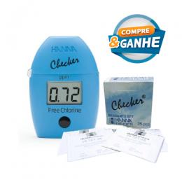 Colorímetro Checker para Medição de Cloro Livre Hanna - Ganhe 1 pacote de Reagentes ETQ - ENTREGA IMEDIATA
