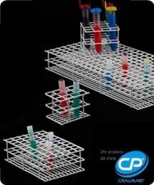 Estante para 12 Tubos de Ensaio 21mm Arame Revestido em PVC  Cralplast