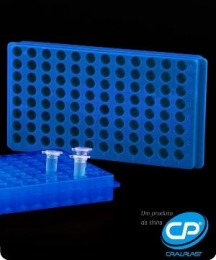 Estante Dupla Face para 96 Microtubos 0,5ml / 1,5ml / 2,0ml Cralplast