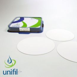 Membrana Filtrante em Nit. de Cel., Branca, Quad., poro de 0,45µm, 47mm/ diam., com Pad, Estéril, Emb. Individual - 100 und./ pct. Unifil