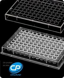 Microplaca de Microtitulação 96 Poços Fundo U c/ Tampa, Estéril, Individual 50 und./pct. Cralplast