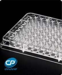 Microplaca de Microtitulação 96 Poços Fundo V, Estéril, Emb. Individual 50 und./pct. Cralplast