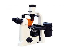 Microscópio Biológico Trinocular Invertido Ótica Infinita c/ Kit de Fluorescência Lentes Planacromáticas Biofocus