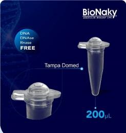 Microtubo para PCR 0,2mL Tampa Domed 1000 und./pct. BioNaky