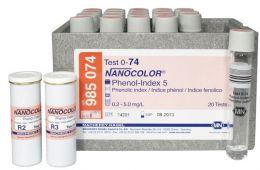 Nanocolor Indice de Fenol 5 0,2-5 - 20 testes/ pct. Macherey-Nagel (MN)