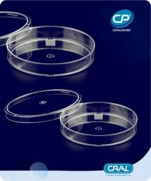 Placa de Petri 90x15mm Estéril 200 und. Cralplast
