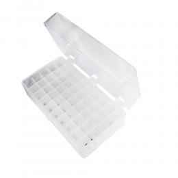 Rack para 50 Tubos Criogênicos/ Microtubos de 1,5 ml a 2,0 ml - Transparente Kasvi ETQ