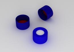 Tampa de Rosca N9 Azul AB.5,5mm Sep.Sil/PTFE 100 und./ cx. Uniglas
