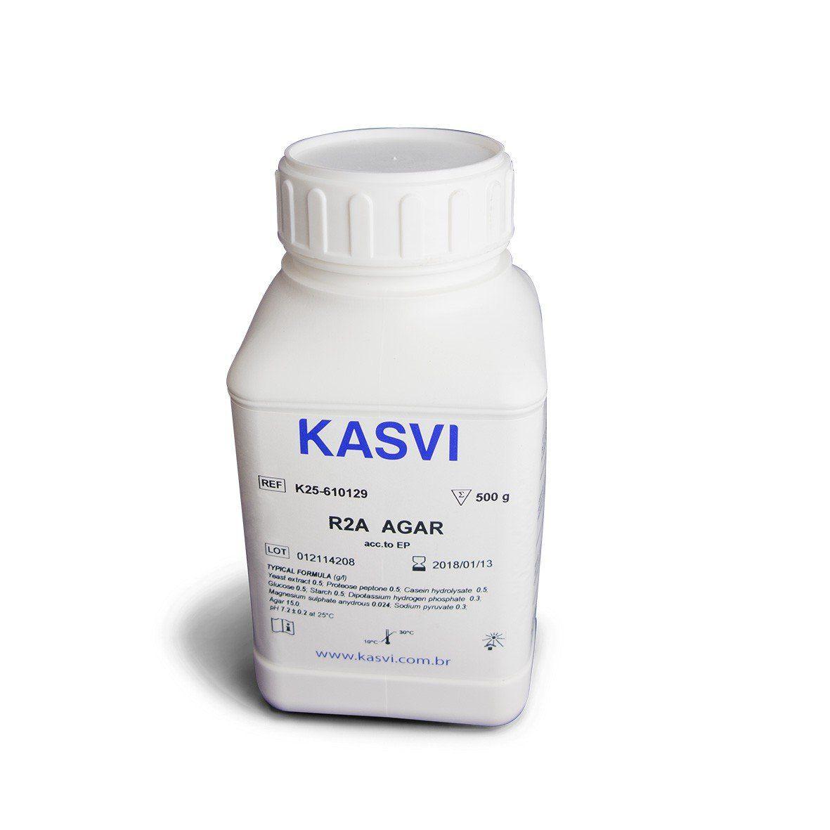Agar R2A Frasco 500 g Kasvi