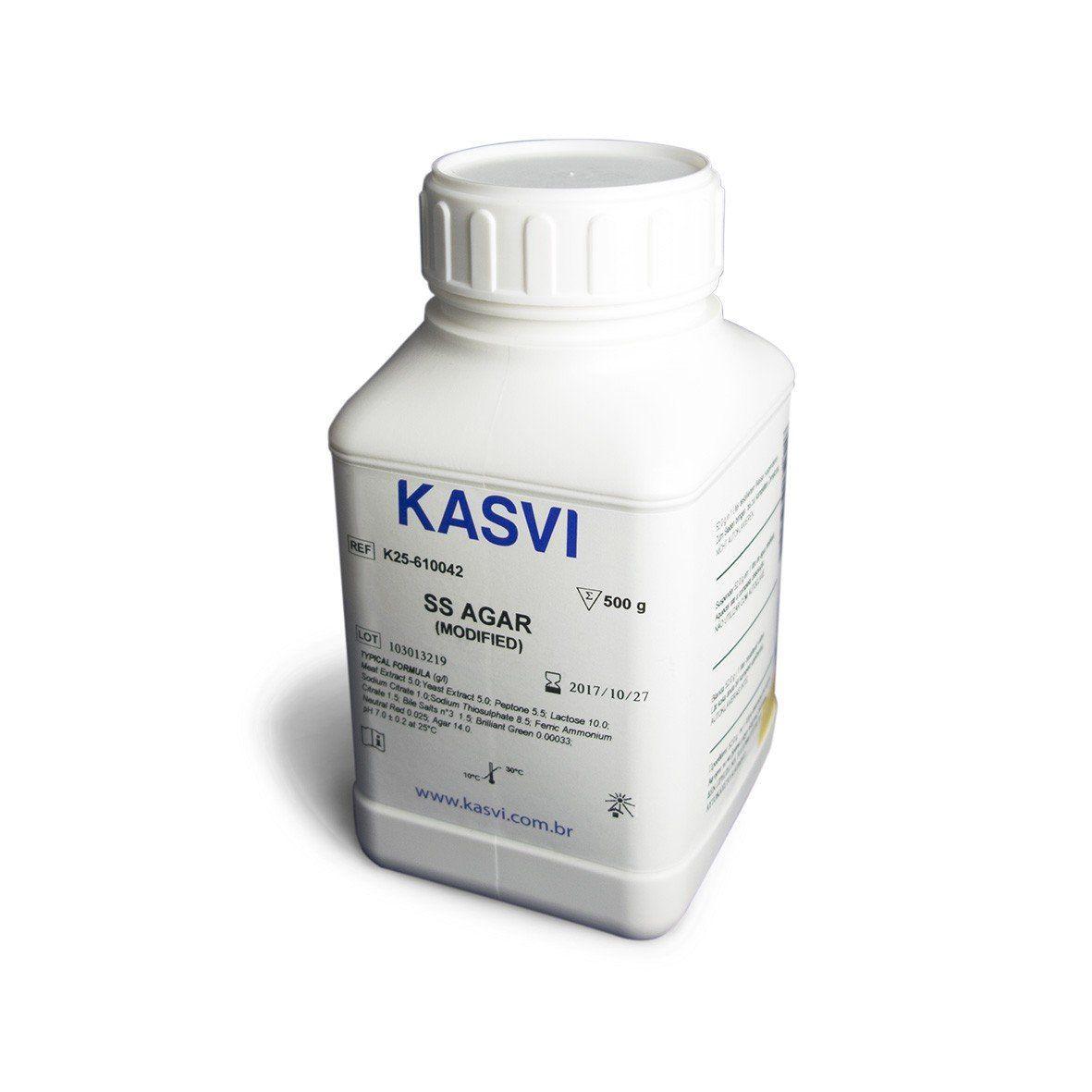 Agar Salmonella Shigella (SS) frasco 500g Kasvi