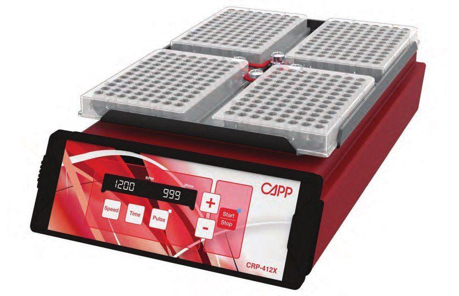 Agitador de Microplacas Capprondo 1200RPM com Ajuste para 4 placas Capp