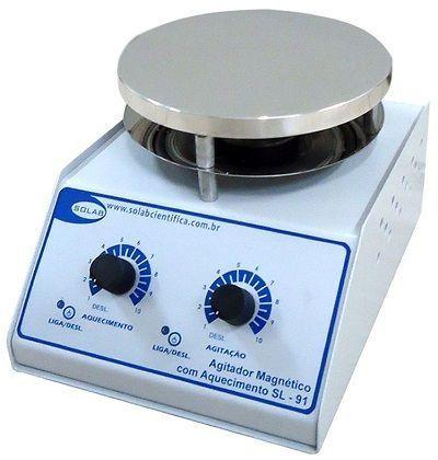 Agitador Magnético Analógico com Aquecimento Solab