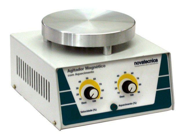 Agitador Magnético com Aquecimento Novatecnica FR