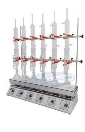 Bateria de Extração (tipo Sebelin) para 3 Provas Solab