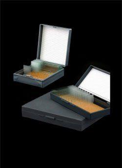 Caixa plástica porta lâminas, 5 caixas para 100 unidades cada cralplast.