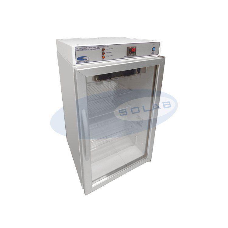 Câmara de Conservação Refrigerada Tipo Vitrine 125 Litros, Solab