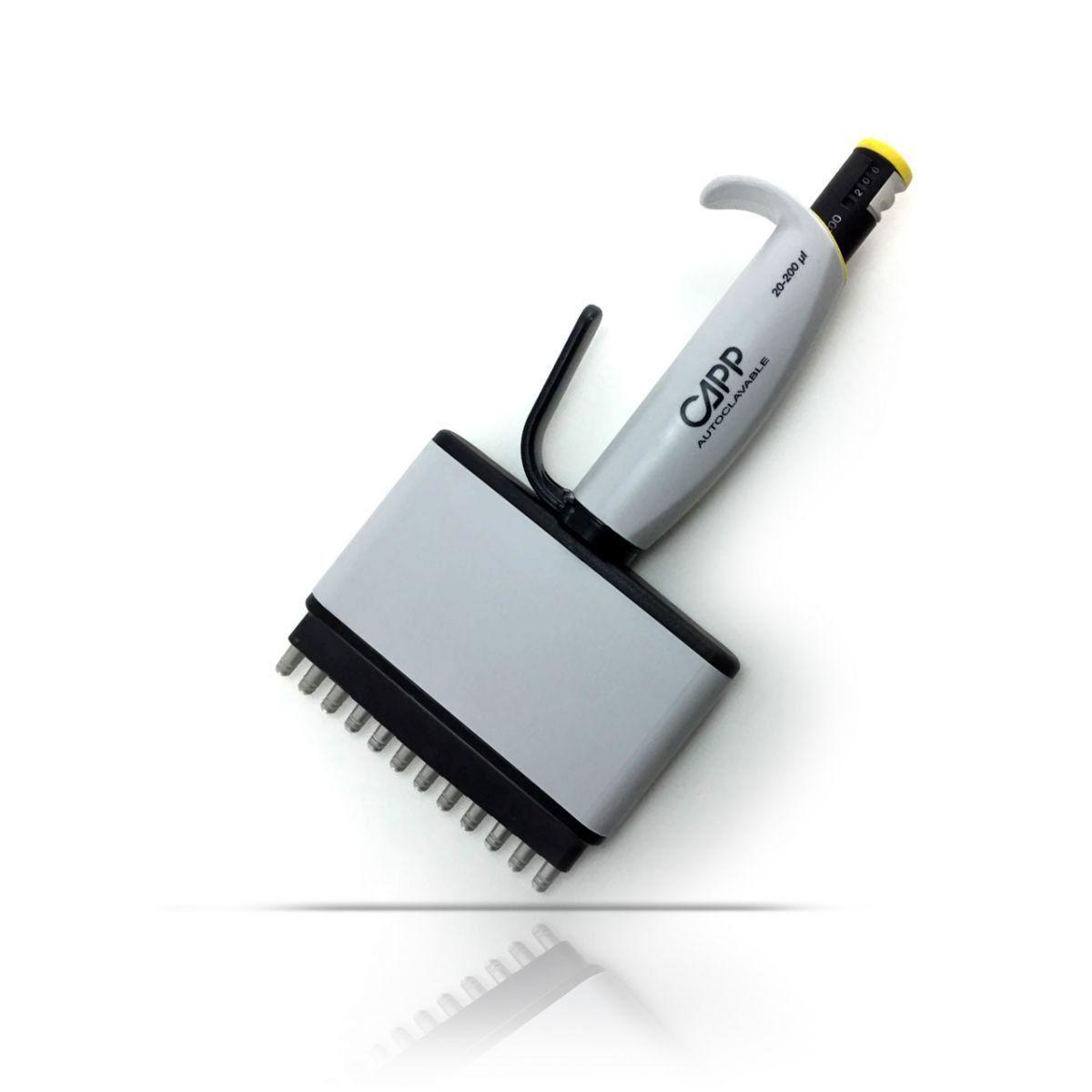 Micropipeta Multicanal Cappaero 12 canais 30 - 300 ul Capp