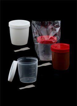 Coletor com pá estéril individual 80ml translúcido, tampa vermelha, cx /500 unid. cralplast.