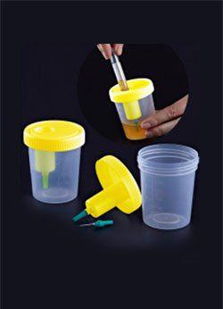 Coletor de urina com dispositivo de transferência 120ml, estéril, caixa com 200 unid. cralplast