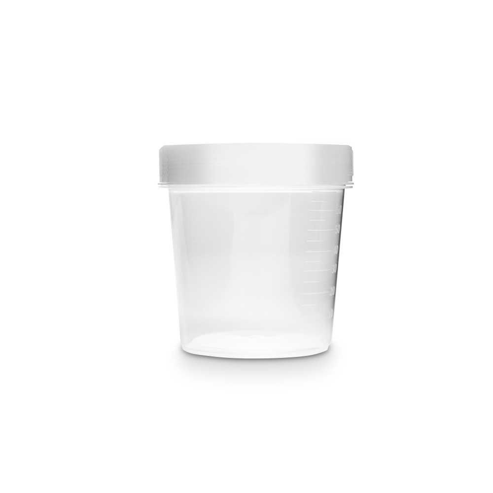 Coletor universal, estéril, 80 ml, tampa branca, 100 und./pct. Olen