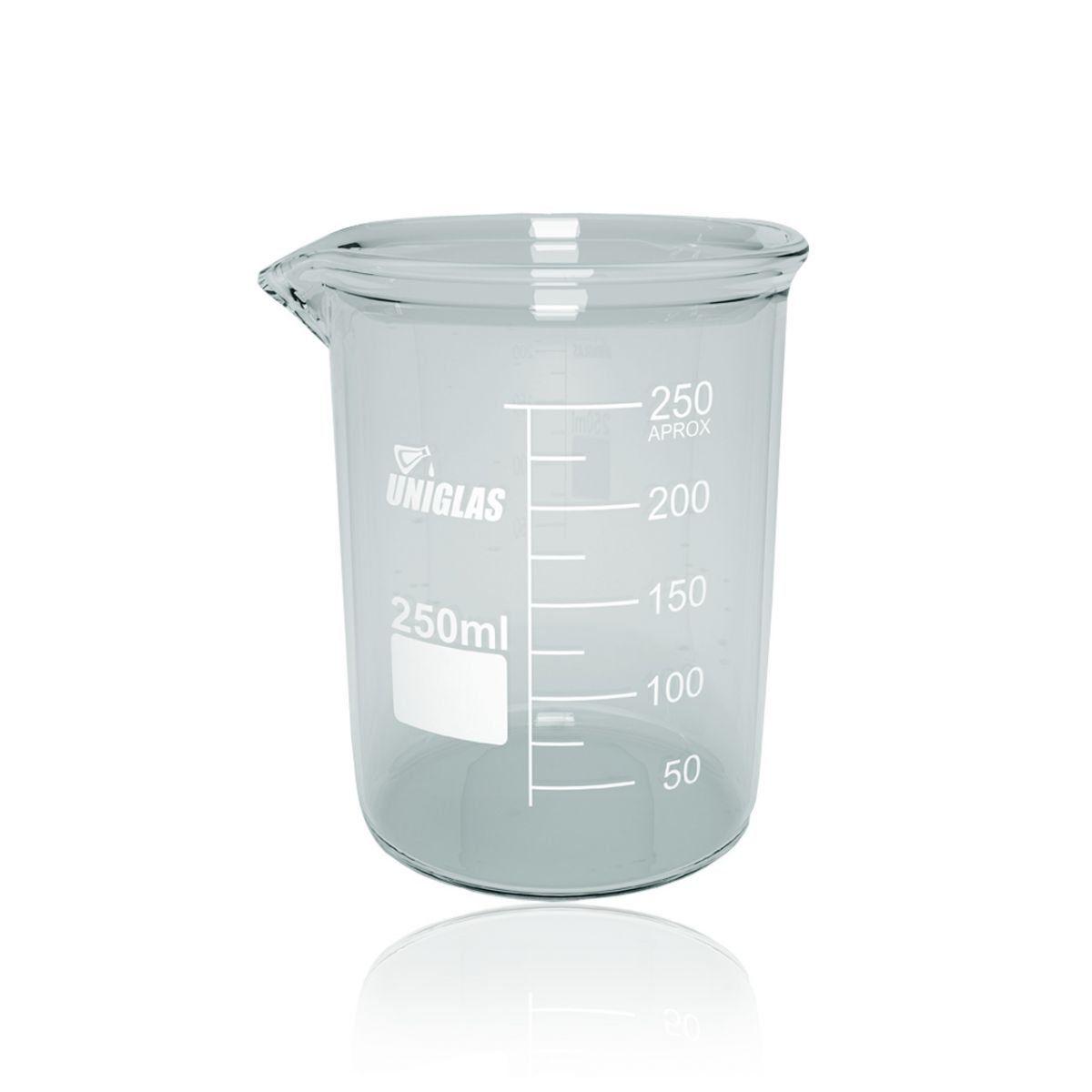 Copo Becker FB (Griffin) Graduado 100 ml - CAIXA com 10 und. Uniglas