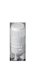 Tubo Criogênico (criotubo) 0,5ml Estéril, Rosca Externa - 100 und./pct. Capp