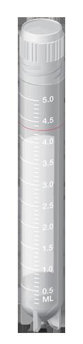 Tubo Criogênico (Criotubo) 5,0ml, Estéril, pct 100 unidades. Capp