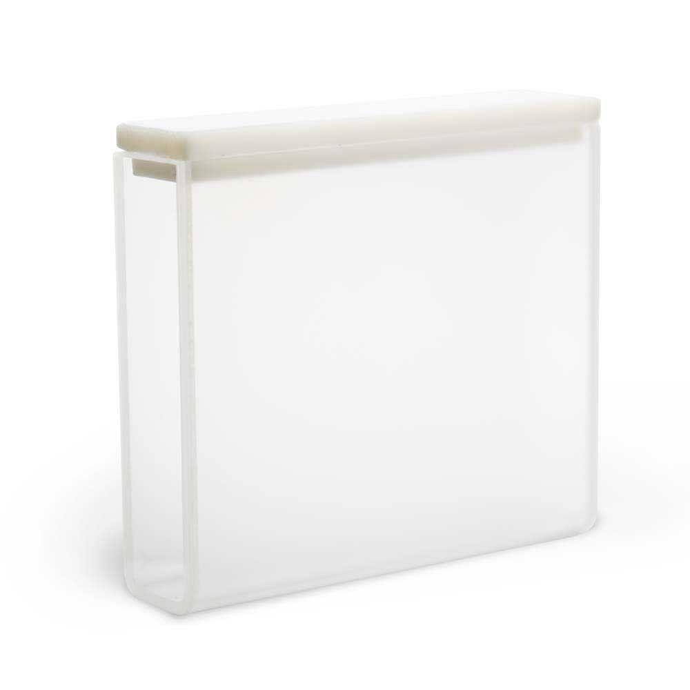 Cubeta em Quartzo ES, 2 Faces Polidas Passo 50 mm, 17,5 ml. Kasvi