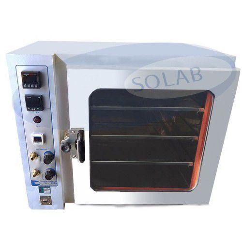 Estufa a Vácuo com Vacuômetro Digital e Timer 27 Litros Solab