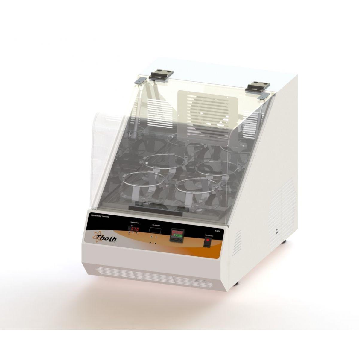Incubadora com agitação orbital shaker de bancada com timer 84 litros toth, 220 v.