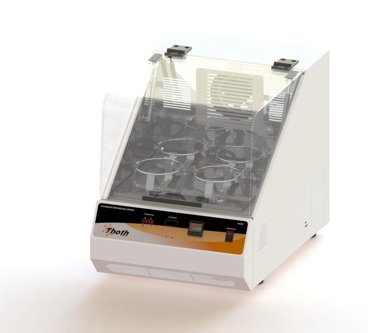 Incubadora refrigerada com agitação orbital shaker de bancada com timer 84 litros toth, 220 v.