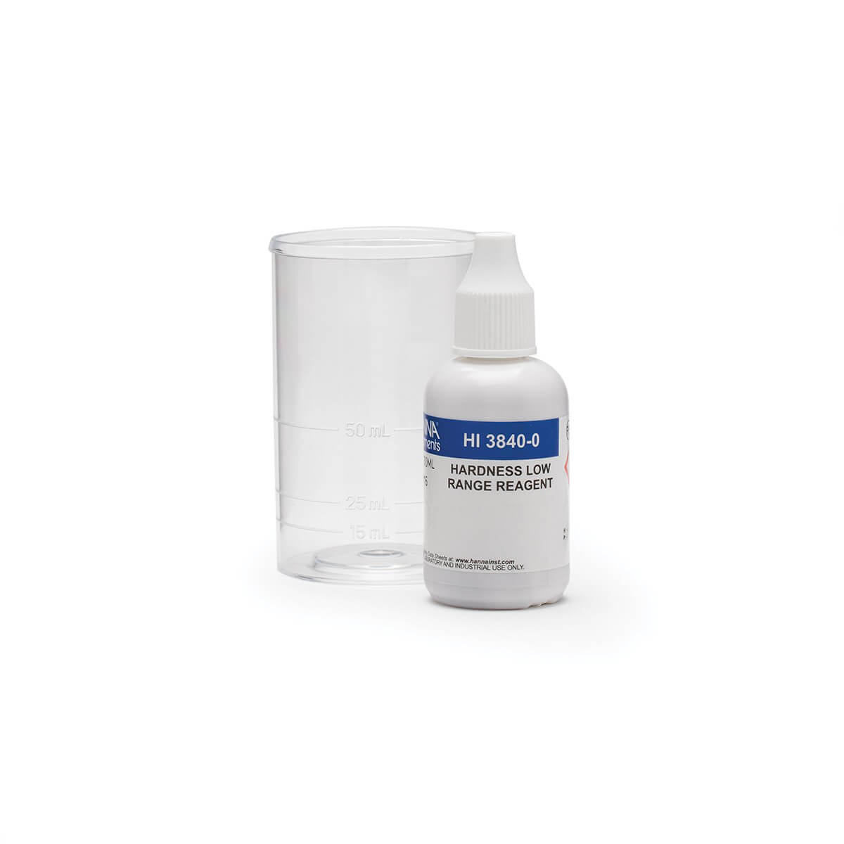 Kit de Teste Químico Dureza Total Faixa Baixa (0-150 mg / l) Hanna