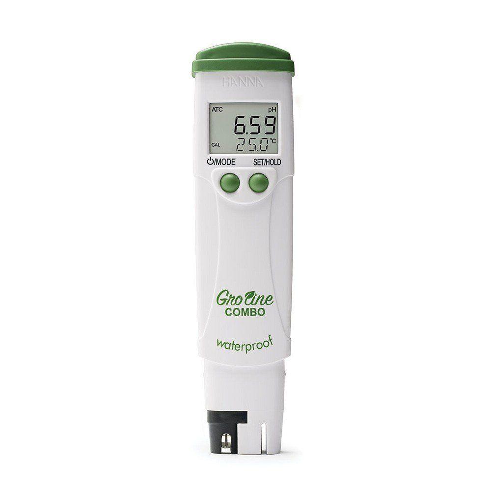 Medidor Combo Ph/Ec/Tds/Temperatura Groline para Hidroponia, à Prova D'água Hanna
