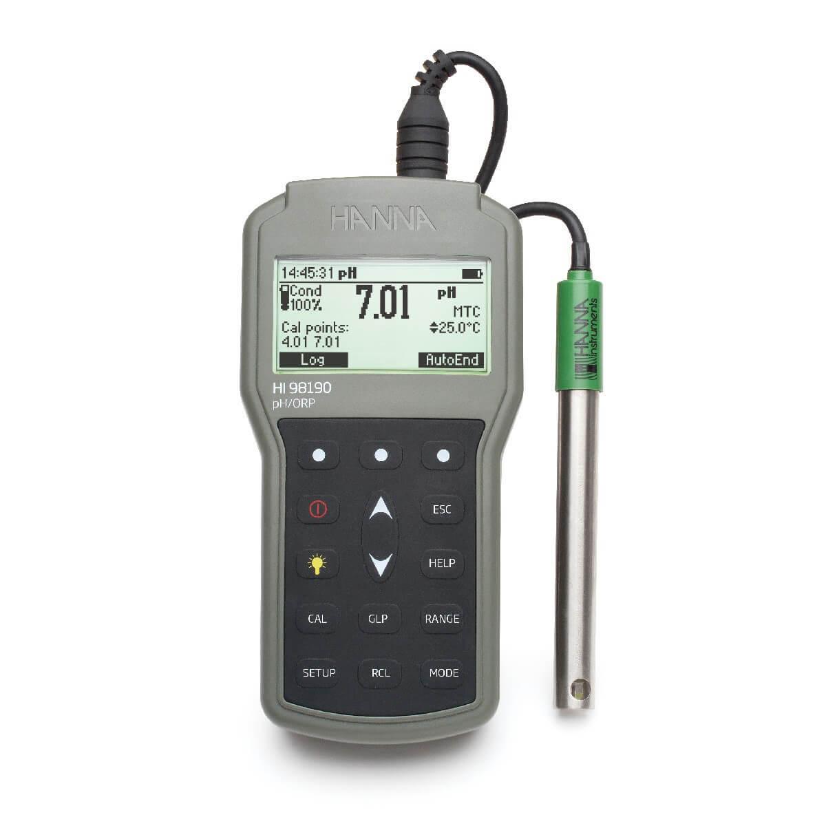 Medidor de pH/ORP Portátil Impermeável Hanna FG