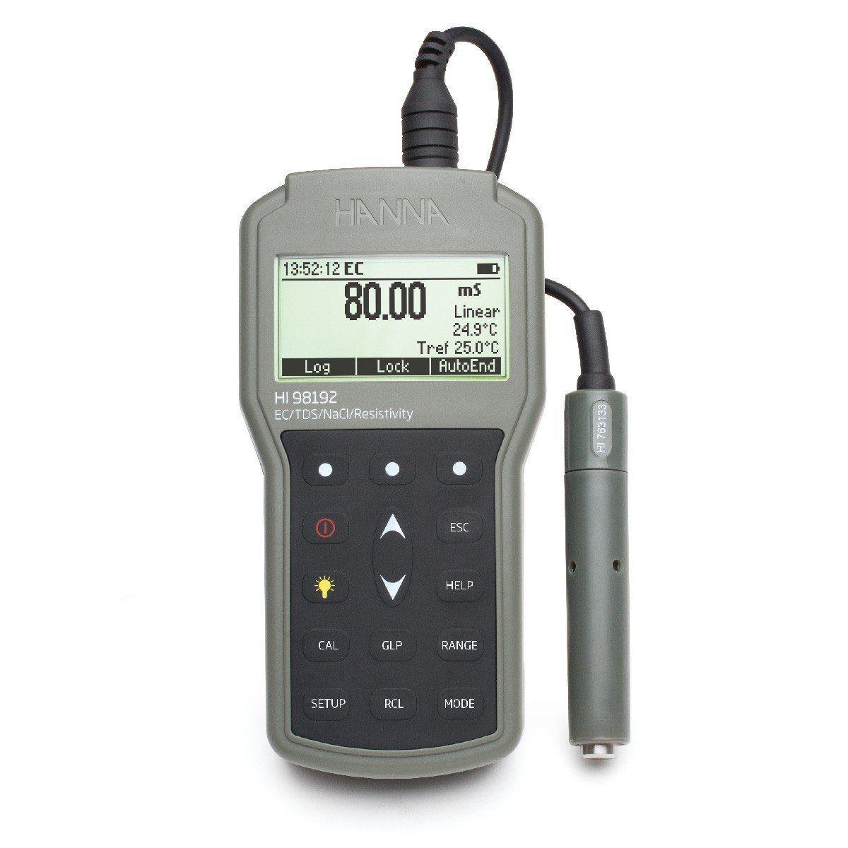 Medidor Portátil EC/TDS/ Resistividade/NaCl Hanna