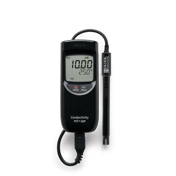 Medidor Portátil EC/ TDS/ Temperatura de Faixa Alta Hanna FR