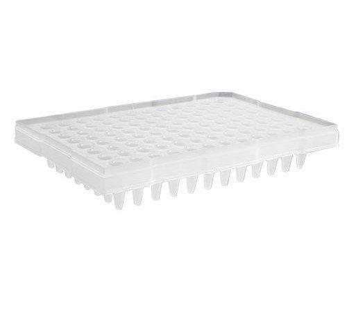 Microplaca para RT-PCR (qPCR) 0,2mL 96 Poços - Meia Borda - para ABI 7500, Bio-rad CFX96 (e outros), 10 und./pct. Axygen