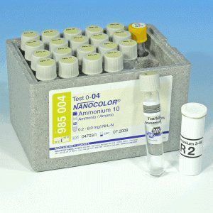 Kit Nanocolor Amonio 10 0,2-10 P/20T Marca MN