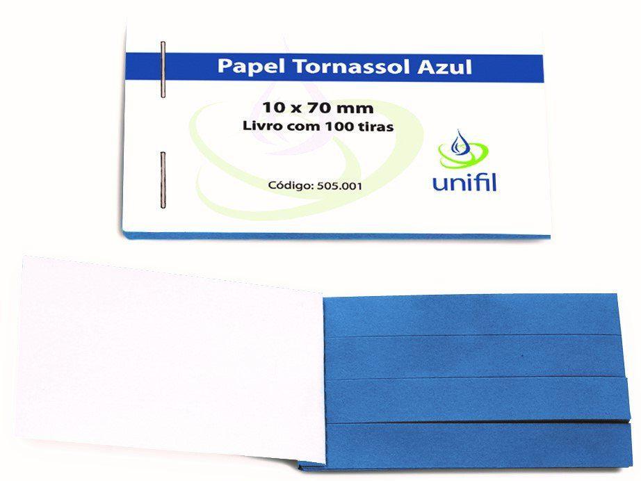 Papel de Tornassol Azul - 100 tiras/ cx. Unifil