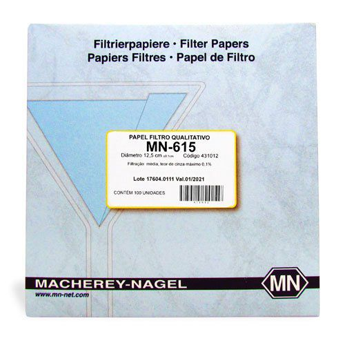 Papel Filtro Qualitativo 321 125 mm - 100 folhas/ cx. Macherey-Nagel (MN)