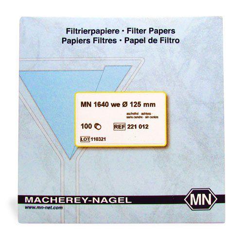Papel Filtro Quantitativo 1640 W 125 mm/ diam. - 100 und./ cx. Macherey-Nagel (MN)