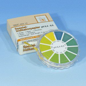 Papel Indicador de pH 6,4 - 8,0 und. MN