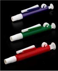 Pi-pump para pipetas de 20ml e de 25ml cralplast, cor vermelha, 2 unidades.