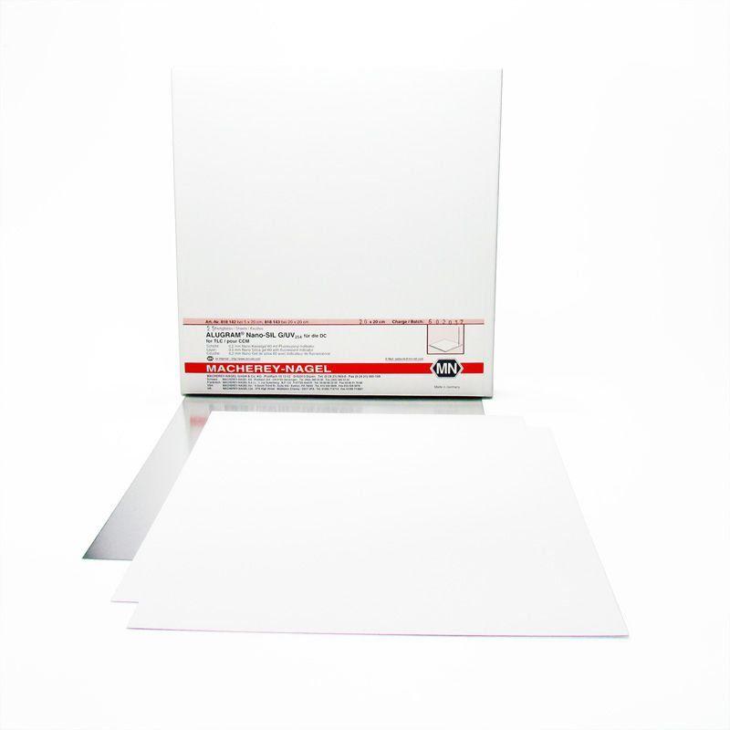 Placa de Alumínio Alugram RP-2 /uv 254 20x20 cm 0,15mm - 25 und. Macherey-Nagel (MN) FR