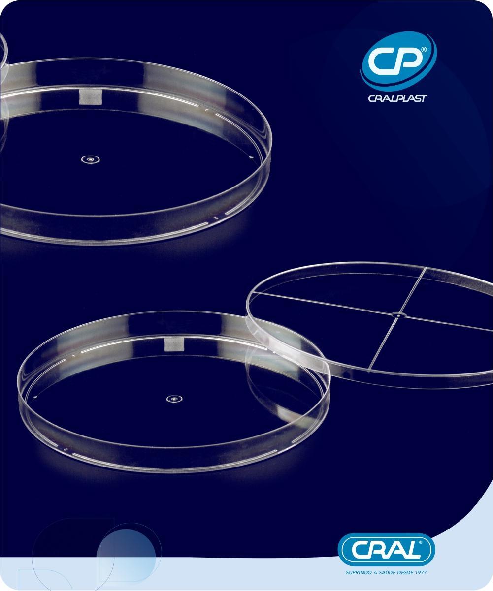 Placa de Petri 140x15mm 200 und. Cralplast