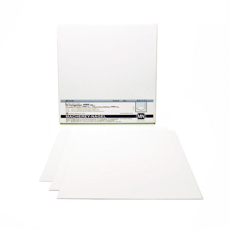 Placa de Vidro Adamant Sil.Gel 60 uv254 0,25mm 20x20 cm - 25 und. Macherey-Nagel (MN) FR